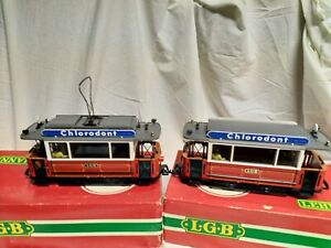 LGB g scale Tram and trailer
