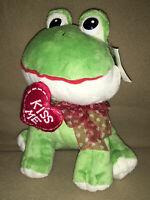 """Stuffed Kiss Me Toad or Frog Valentine's Day 11"""" Tall NEW So Soft Holiday Home"""