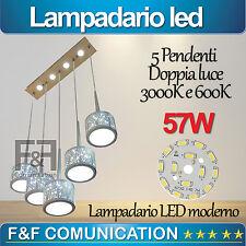 LAMPADARIO LED MODERNO SOSPENSIONE PENDENTE 9 LUCI 49W DOPPIA LUCE 3000K 6000K