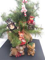 Cute & Kitschy Christmas Animals Ornaments Figures Mouse Koala Bear Homco Lefton