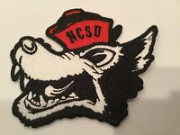 """NCSU NORTH CAROLINA STATE WOLFPACK  VINTAGE EMBROIDERED IRON ON PATCH 3.75"""""""