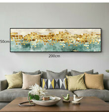 LL130 HUGE gold foil oil painting Dancing stars Hand-painted Unframed 200cm