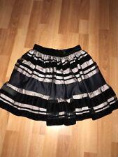 Mango Velvet Mesh Black Mini Skirt fully Lined Christmas Party Size 4-6