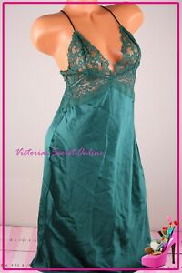 Victoria's Secret Lingerie Slip Babydoll Chemise Unlined Lace Sexy Plunge Small