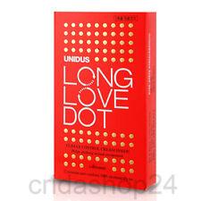 UNIDUS LONG LOVE DOT Climax Delaying Control Condoms Prolong Sex Benzocain 12P