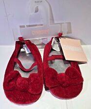 Gymboree Sparkly Winter Red Crib Shoes Size 04