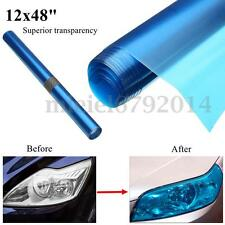 30x120cm Sky Blue Tint Film Fog Tail Light Headlight Tinting Car Van Wrap Sheet