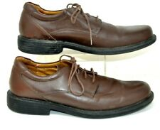 Croft & Barrow Mens Size 9.5 M Brown Leather Lace Up Dress Shoes