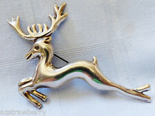 VTG Sterling Silver 925 Mexico Leeping Deer with Antlers large pin brooch
