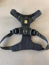RUFFWEAR M Yellow Gray Front Range Dog Harness Size Padded 2 Hooks Adjustable