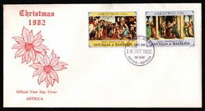 Antigua & Barbuda - 1982 Religious Nativity Paintings Christmas Cacheted FDC VF
