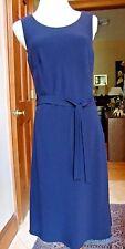Unworn RENA LANGE NAVY BLUE Belted, Lined DRESS 8, GB12, S/L MINT Slovenia $2385