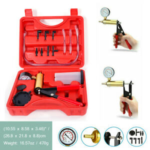 Hand Held Vacuum Pressure Tester and Pump Brake Bleeder Bleeding Kit Car Tool UK
