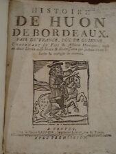Histoire de Huon de Bordeaux Colportage, Troyes, Garnier,  1726,
