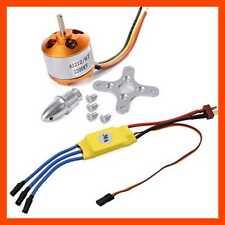2212 2200Kv Brushless Outrunner Motor W/Mount 6T + 30A ESC RC Speed Controller S