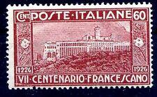 REGNO 1926 - SAN FRANCESCO   Cent. 60    NUOVO **