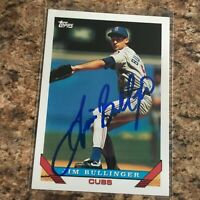 Jim Bullinger Signed 1993 Topps Auto Chicago Cubs