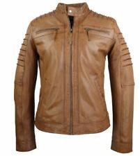 Lederjacke Herren Lammnappa-Lederjacke Echtleder Real Leatherjacket XL cognac