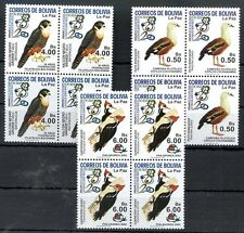 BOLIVIA - BIRDS 2002, Block of 4 - Yvert # 1130/2 - 4 Complete Sets MNH