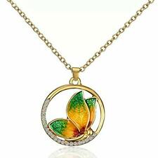 Butterfly Necklace, Yellow gold, New