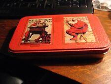 Norman Rockwell Xmas Tin - 1998 Saturday Evening Post Christmas Santa Claus Box