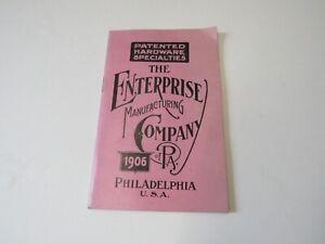Original 1906 Enterprise Manufacturing Company Philadelphia PA Hardware Catalog