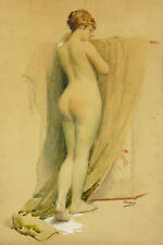 FRED-MONEY Raoul Billon dit (1882-1956)framed nude painting listed artist