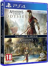 ASSASSIN'S CREED ODISSEY + ORIGINS DOUBLE PACK PS4 ITALIANO GIOCO PLAY STATION 4