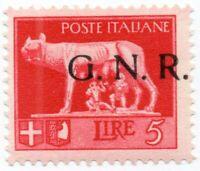 R.S.I. N.484/Ihcc  Serie Imperiale con soprastampa G.N.R. Sassone 2020 € 3.600