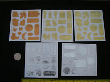 Job Lot 2 Packs EMBOSSED BABY PAPER CHARMS Embellishments NEW Gold SILVER Copper