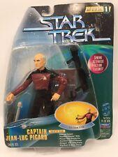 STAR TREK WARP FACTOR SERIES 1 CAPTAIN JEAN-LUC PICARD FIGURE SET 1997