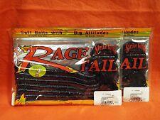 "STRIKE KING Rage Tail 10"" Thumper (7/pk/14 tl) #RGTW10-42 Junebug (2pks)"