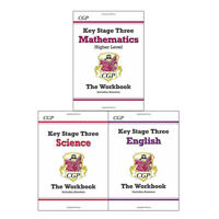 Key Stage Three Workbook Collection 3 Books Set Maths,Science,English Brand NEW