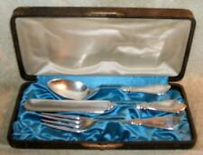 "Late 1800's Rogers Bros Silver Plate ""Princess"" Youth Flatware Set Original Case"