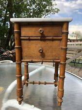 Antique French Miniature Marble Top Doll Sz.Teddy Bear Toy Side Table. 1890-1900