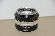Vintage NIKON NIKKOR-S AUTO 50MM F/1.4 LENS with rubber hood and hard case