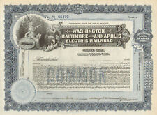 Washington Baltimore & Annapolis Electric Railroad > Maryland stock certificate
