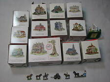 Liberty Falls Americana Collection LOT set Pewter Post Office Saloon Cabin Cluny