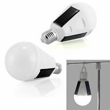 IP65 Rechargeable LED Solar Light Bulb 7W E27 Tent Camping Fishing Lamp GL0363