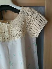 Mexican-Style Crochet Neck Floral Dress Size SM-M(Measured)