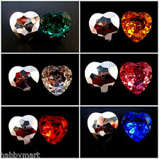 Acrylic Heart Jewel Buttons - Sew Through Holes - Six Colours & Four Sizes