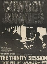 18/3/89Pgn23 Advert: Cowboy Junkies 'the Trinity Session' Album Out Now 7x5