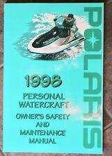 Polaris 1998 Personal Watercraft Owner's Manual 98 Pwc 9914731 New Oem