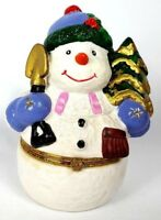 Candy Jar Snowman Canisters Ceramic Christmas Decor Holiday Container