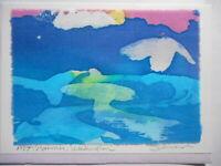 Handmade Batik Design Art Greeting Card or Suitable For Framing Susan Schneider