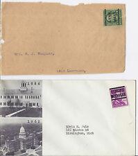 US Precancel Cover / Newspaper Wrapper Lot of 2 - 279 & 1039 Lynn & Lansing