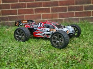 HPI TROPHY TRUGGY 1/8 SCALE RC NITRO TRUCK,25 ENGINE,SPARES,COMPLETE,4.6,SAVAGE