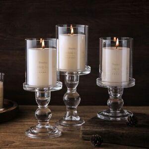 Glass Candlestick Holder Wedding Candle Holders Home Decoration Crystal Pillar