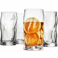 SORGENTE Tall Drinking Glasses 15.5 Ounce Highball Glass Set of 4 Glass Cups,