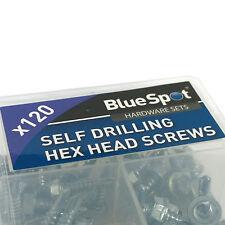 120 Zinc Plated Steel Hex Head Screws. Self Drilling Screw set assortment